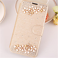 For Samsung Galaxy Case Rhinestone / Flip / Magnetic Case Full Body Case Flower PU Leather SamsungA7(2016) / A5(2016) / A3(2016) / A8 /