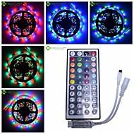 SENCART - 5 - M -  3528 SMD - RGB - ניתן לחיתוך/שלט רחוק/ניתן לדימדום/ניתן להרכבה/מתאים לרכבים/נדבק לבד - 30 - W - סרטי תאורת LED גמישים -