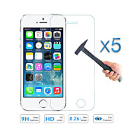 5PCS Quality Tempered Glass Film Screen Protector for Apple iPhone 5 5S