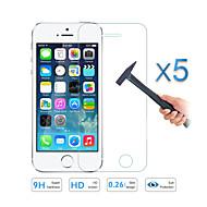 5pcs calitate sticla de ecran de film protector pentru Apple iPhone 5 5s