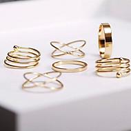 Ringen Dagelijks / Causaal Sieraden Legering Dames Midiringen 1 Set,8 Gouden
