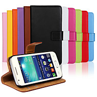Genuine Leather Full Body Flip Case with Card Slot and Stand Case for Samsung Galaxy Ace 4 G313H
