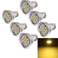8W E26/E27 Spot LED MR16 15 SMD 5630 700 lm Blanc Chaud Décorative AC 85-265 V 6 pièces