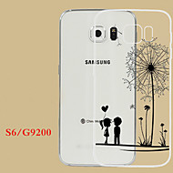 Para Samsung Galaxy Capinhas Transparente / Com Relevo Capinha Capa Traseira Capinha Dente de Leão TPU Samsung S6