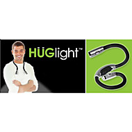 0.5W 50LM 4XLED Hands-free Flexible Portable Book Reading Light Hug Lamp neck(Black)