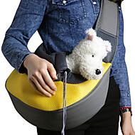 tinta unita con disegno tessuto traspirante pendenza spalla portante packbag per gli animali domestici i cani (colori assortiti)