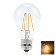 BRELONG E27 7W 4XCOB 400LM 2800K-3200K Warm White Light LED Filament Light Bulbs(AC 220V)