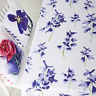 suluboya resim çiçek baskılı masa örtüsü