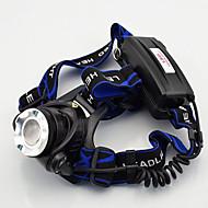 Pandelamper / Forlygte Straps LED Highlight 907  low light 300 Lumens Tilstand Cree XM-L T6 / XM-L2 T6 18650 Vanntett / Genopladelig