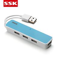 ssk® USB 2.0 shu026-1 4-портовый высокоскоростной USB HUB