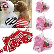 고양이 / 개 바지 레드 / 핑크 강아지 의류 모든계절/가을 도트 무늬 / 리본매듭 웨딩 / 코스프레