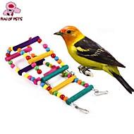 Kuş Tünek & Merdivenler Plastik Ahşap Çoklu-Renk