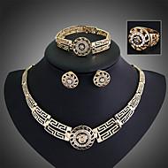 Dame Smykke Sæt Stangøreringe Armbånd Ring Mode Statement-smykker Vintage Festival/Højtider kostume smykker Østrigsk krystal Smykker