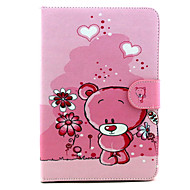 Cartoon Bear Pattern PU Leather Full Body Case with Stand for iPad mini 1/2/3