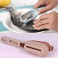 1 db hal bőrét fedő kaparás hal skálán ecsettel graters gyors eltávolítására konyha kütyü (véletlenszerű szín)