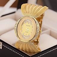 Mujer Reloj de Moda Cuarzo Aleación Banda Destello Plata / Marrón / Dorado Marca-