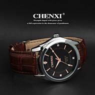 CHENXI® 男性 リストウォッチ カジュアルウォッチ クォーツ 日本産クォーツ レザー バンド ブラック