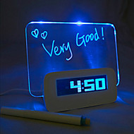 Night Light LED vækkeur Message Board Ombytning Colors DC 5V 3 * AAA USB-interface
