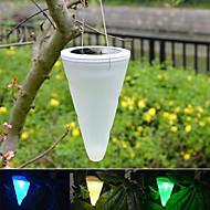 esterno giardino pensile albero cono cornetta solare luci led illuminazione di paesaggio percorso scala