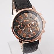 Useful Women Fancy Geneva Roman Numerals Faux Leather Analog Quartz Wrist Watch Cool Watch Unique Watch
