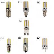Lampadine a pannocchia 80 SMD 3014 T E14 / G9 / G4 / E12 / E17 8 W Intensità regolabile 720 LM Bianco caldo / Luce fredda 1 pezzoAC