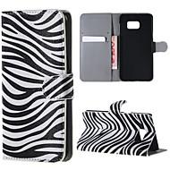 padrão de zebra pu couro caso difícil com suporte para Samsung Galaxy nota 5 / nota 5 edge / nota 4 / nota 3 / nota 2