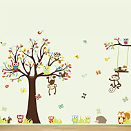 Animaux / Bande dessinée Stickers muraux Stickers avion Stickers muraux décoratifs,PVC Matériel Repositionable Décoration d'intérieurWall