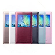 Varten Samsung Galaxy kotelo Ikkunalla / Flip Etui Kokonaan peittävä Etui Yksivärinen Tekonahka Samsung A8 / A7 / A5 / A3