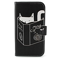 For Samsung Galaxy Case Wallet / Card Holder / with Stand / Flip Case Full Body Case Cat PU Leather Samsung S5 / S4 Mini / S3