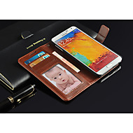 For Samsung Galaxy Note Wallet / Card Holder / with Stand / Flip Case Full Body Case Solid Color PU Leather Samsung Note 3