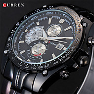 CURREN® Men's Dress Watch Japanese Quartz Multi-Subdial Deco Stainless Steel Strap