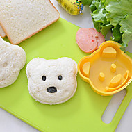 Teddy Bear Shaped Sandwich Cutter DIY Plastic Sandwich Cutting Mold