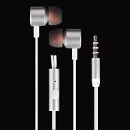 ROMAN® In-ear Earphone with Microphone for Smartphone - Silver (3.5mm / 130cm-Cable)