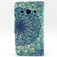 For Samsung Galaxy etui Pung Kortholder Med stativ Flip Etui Heldækkende Etui Mandala-mønster Kunstlæder for SamsungCore Prime Core Plus