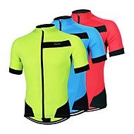 ARSUXEO® Cycling Jersey Men's Short Sleeve BikeBreathable / Quick Dry / Anatomic Design / Front Zipper / Lightweight Materials /