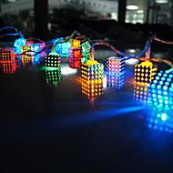 20-LED 2M  RGB Wrought cube shape iron square pendant  Christmas Holiday Wedding Decoration