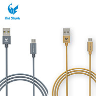 Old Shark™ 3 Feet nylon fiber Micro USB Data Charging Cable for Samsung Galaxy S6 and others