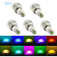 5pcs MORSEN® E27 5W with Remote Control Multiple Colour RGB LED Bulb(85-265V)