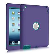 3 σε 1 combo PC κυματομορφή& σιλικόνη κρυσταλλα απόδειξη θήκη για το iPad 2/3/4