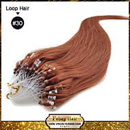 "20 ""kleur # 30 vele kleuren availale 100s micro loop remy human hair extensions"