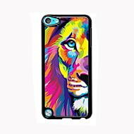 iPod touchの5のための水彩画のライオンデザインアルミ高品質のケース