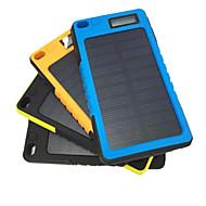 아이폰 삼성 및 기타 모바일 장치 (블랙 / 블루 / 옐로우 / 오렌지)에 대한 태양 광 충전과 5800mah 모바일 외장 배터리