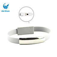 Old Shark™8Inches Lightning to Micro USB Bracelet Charging Data Sync Cable for Samsung HTC Andriod Devices