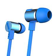 W800 3.5mm støjreducerende mike i øret øretelefon til iPhone og andre telefoner (assorterede farver)