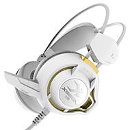 耳の上xiberia v3のゲーミングヘッドフォンマイクの光ステレオヘッドセットのPCゲーマーコンピュータ超低音グローイヤホンを主導しました