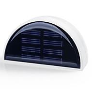 hry® 6 led di luce-controllo esterno muro percorso recinzione del giardino impermeabile lampada di illuminazione della luce solare