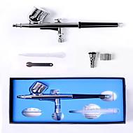 Airbrush tatoeages-Metallic-Airbrushpistolen- voorVolwassene-Zilver-Metaal / Messing15cm-7cc & 10cc-15-50psi-0.3mm