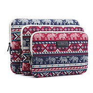 10'' 11'' 12'' 13'' 14'' 15'' Baby Elephant Rhombus Pattern Canvas Bag Computer Protective Sleeve Case