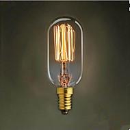 T45 Straight Wire E14 220 V Small Screw Retro Light 40 W