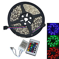 JIAWEN® 5M 300-5050 SMD RGB LED Strip Light with 24Key Remote Controller (DC12V /5M)